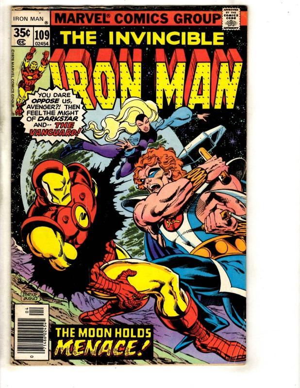 Lot Of 4 Iron Man Marvel Comic Books # 109 123 126 129 Hulk Thor Iron
