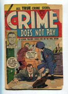 Crime Does Not Pay 130 Poor Brittle Cover Split/Detachached