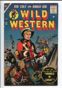 WILD WESTERN #53 1957-ATLAS-KID COLT-JOE MANEELY-RINGO KID-UTAH KID-fn