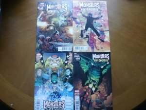 4 Near-Mint MARVEL Comic: MONSTERS UNLEASHED #2 #3 #4 #6 (2017) Bunn Land Paz Yu
