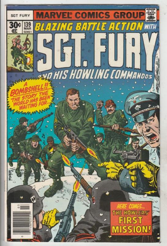 Sgt. Fury and His Howling Commandos #139 (Mar-77) NM- High-Grade Sgt. Fury, H...