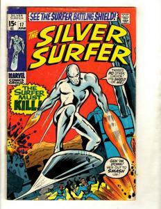 Silver Surfer # 17 VG Marvel Comic Book Avengers Fantastic Four Galactus GK1