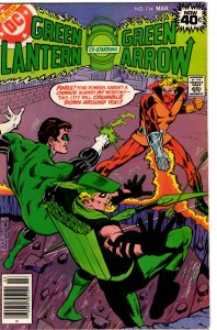 Green Lantern & Green Arrow #114 (1960 v2) Black Canary VF+