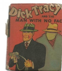 Dick Tracy + Man With No Face ORIGINAL Vintage 1938 Whitman Big Little Book