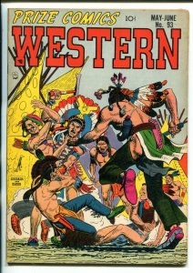 PRIZE COMICS WESTERN #93-1952-INDIAN STORIES-SEVERIN ART-DOUBLE COVER-vf minus