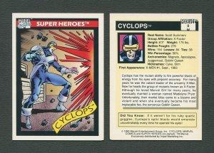 1990 Marvel Comics Card  #8 (Cyclops) / NM