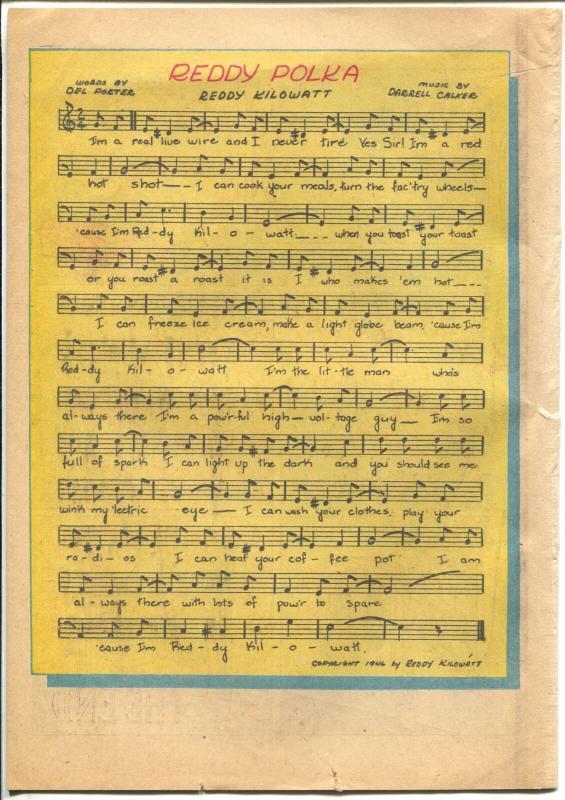 Reddy Kilowatt 1946-EC Comics-1st issue-not numbered-promo giveaway-FN-