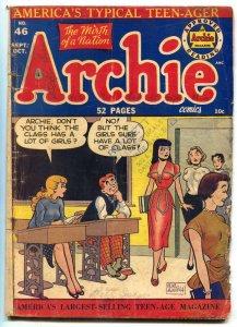 Archie Comics #46 1950-BETTY & VERONICA--BOB MONTANA ART G
