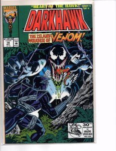 Marvel Comics Darkhawk #14 Venom Tombstone Lodestone NM