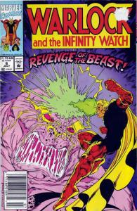 Warlock and the Infinity Watch #6 VF; Marvel   save on shipping - details inside
