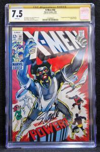 X-men #56 (Marvel, 1969) CGC 7.5 Stan Lee Signature