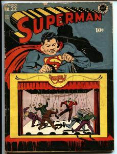 Superman #22 1943- DC Golden Age- comic book