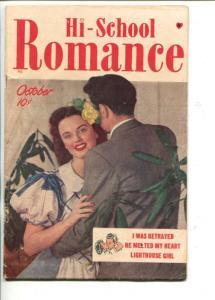 HI-SCHOOL ROMANCE #1-1949-BOB POWELL-PHOTO COVER--SOUTHERN STATES-vg