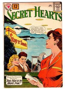 SECRET HEARTS #76 comic book 1962-DC ROMANCE-CAR HOP-DRIVE IN