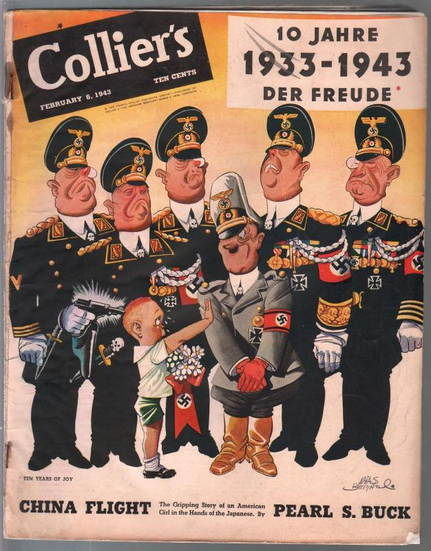 Collier's 2/6/1943- WWII era-pulp fiction-Pearl S Buck-Arias Bernal-G