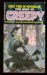 BEST OF CREEPY PAPERBACK 1971-1st EDITION-FRAZETTA-DITKO-very fine VF