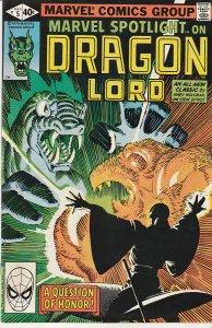 Marvel Spotlight(vol. 2) # 5 Dragon Lord ! Steve Ditko art !