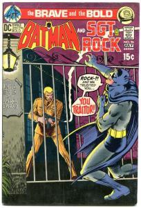 Brave And The Bold  #96 1971 - Batman- Sgt Rock DC Comics FN