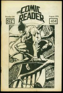 Comic Reader Fanzine #109 1974- Batman cover VG