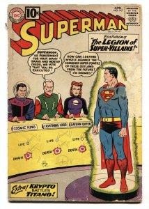 SUPERMAN #147 1961-1st LEGION OF SUPER-VILLAINS-7th LEGION APP-KRYPTO G