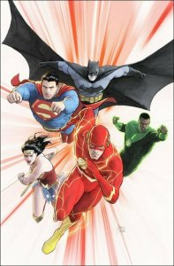 JUSTICE LEAGUE #47 CARD STOCK MIKEL JANIN VARIANT ED