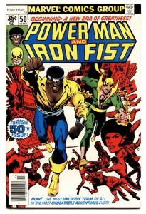 Power Man #50-1987 First Luke Cage Iron Fist team-up-MARVEL COMIC