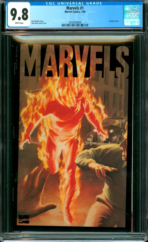 Marvels #1 CGC Graded 9.8 Acetate cover