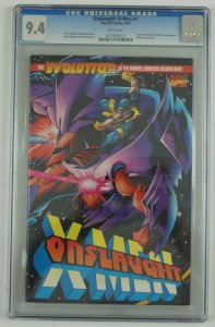Onslaught: X-Men #1 CGC 9.4 - wraparound Adam Kubert cover - white pages