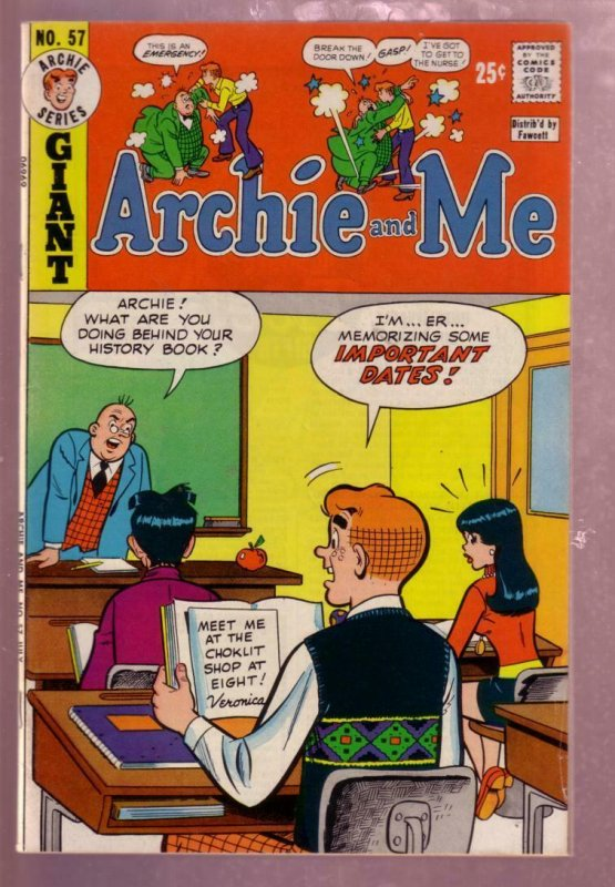 ARCHIE AND ME #57 1973 MR WEATHERBEE SCHOOL  COVER VG/FN