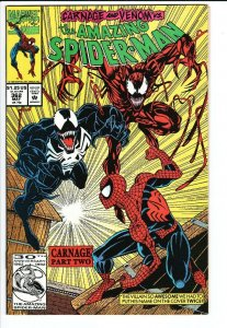 Amazing Spider-Man #362 venom Carnage - NM-
