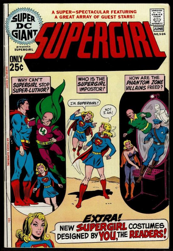 Super DC Giant #24 (Jun 1971, DC) Supergirl 6.5 FN+