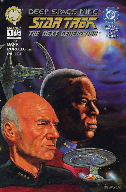 Star Trek: Deep Space Nine/Star Trek: The Next Generation #1 VF/NM; Malibu | sav