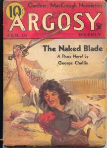 Argosy 2/10/1934-Munsey-Erle Stanley Gardner-Paul Stahr-VG