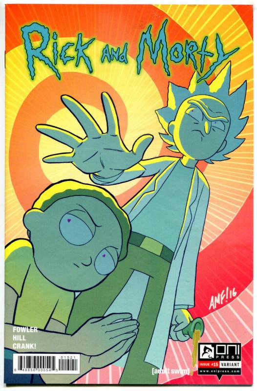 RICK and MORTY #15, 1st, NM, Grandpa, Oni Press, from Cartoon 2015, Variant