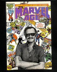Marvel Age #41 Stan Lee Photo Cover!