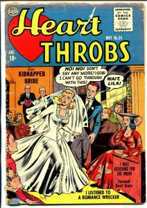 Heart Throbs #34 1955-Quality-runaway bride cover-nice interior imagery-FR/G
