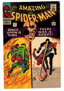 AMAZING SPIDER-MAN #37 comic book-Marvel Silver-Age FIRST NORMAN OSBORN