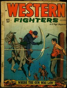 WESTERN FIGHTERS V.3 #9 1951 HILLMAN PUBS DENTIST STORY FR