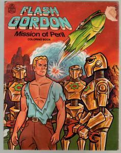 Flash Gordon Coloring Book #1052 1975-robot cover-sci-fi thrills-VG