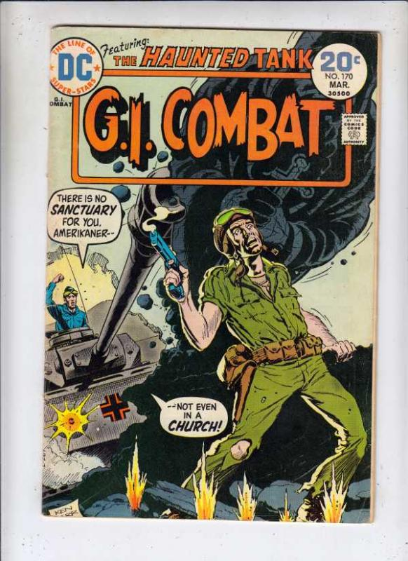 G.I. Combat #170 (Mar-74) FN- Mid-Grade The Haunted Tank