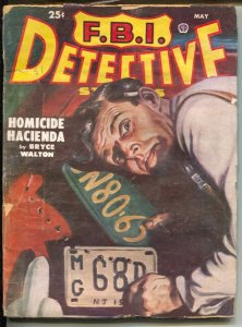 F.B.I. Detective Stories 5/1951-pulp violence-Johnny Blood by Bruce Cassidy-L...