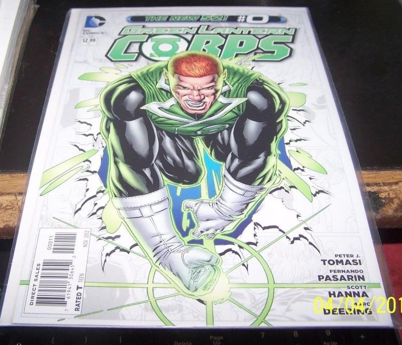 green lantern corps # 0 nov  2012 guy gardner kilowag the new 52 rare