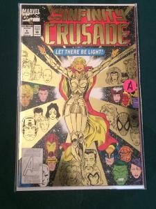 The Infinity Crusade #1 metallic cover