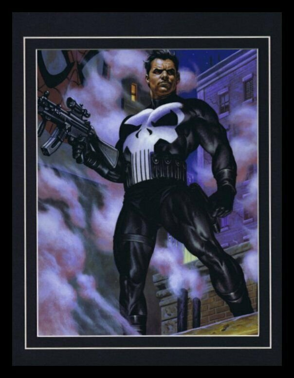 The Punisher Framed 11x14 Marvel Masterpieces Poster Display