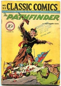 Classic Comics #22 HRN 22 edition 1B-The Pathfinder- Island FN-