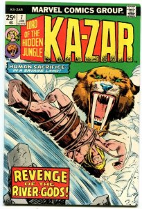 Ka-Zar #7 (8.0) 1974 Ka-Zar Zabu Bronze Age Marvel ID72L