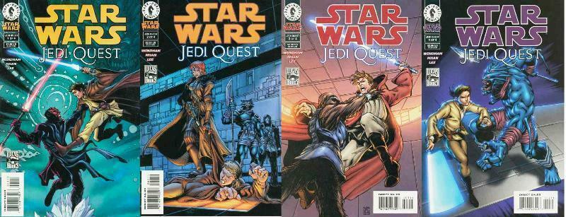 STAR WARS JEDI QUEST (2001 DH) 1-4  COMPLETE!