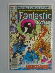 Fantastic Four #248 guest-starring the Inhumans 8.0 VF (1982 1st Series)