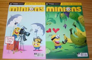 Minions #1-2 VF/NM complete series - titan comics - despicable me spinoff set