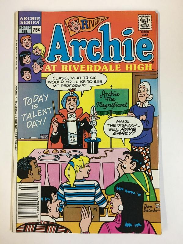 ARCHIE AT RIVERDALE HIGH (1972-1987)113 VF-NM  Feb 1987 COMICS BOOK